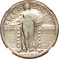 Standing Liberty Quarters, 1918/7-S 25C -- Harshly Cleaned, Scratches -- NGC Details. VF.FS-101....