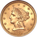 Liberty Quarter Eagles, 1861 $2 1/2 New Reverse, Type Two MS66 NGC....
