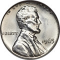 Errors, 1965 Lincoln Cent -- Struck on a Silver Dime Planchet -- MS65 NGC....