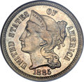Three Cent Nickels, 1885 3CN MS65 NGC....