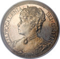 Coins of Hawaii, 1891 Queen Liliuokalani Pattern Silver Dollar PR62 NGC. Medcalf2MH-1....