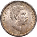 Coins of Hawaii, 1883 50C Hawaii Half Dollar MS63+ PCGS. CAC....