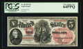 Large Size:Legal Tender Notes, Fr. 68 $5 1875 Legal Tender PCGS Very Choice New 64PPQ.. ...