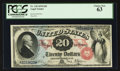 Large Size:Legal Tender Notes, Fr. 129 $20 1878 Legal Tender PCGS Choice New 63.. ...