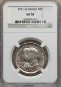 Commemorative Silver: , 1921 50C Alabama AU58 NGC. NGC Census: (76/1719). PCGS Population(90/1946). Mintage: 59,038. Numismedia Wsl. Price for pro...
