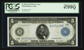 Large Size:Federal Reserve Notes, Fr. 851a $5 1914 Federal Reserve Note PCGS Superb Gem New 67PPQ.. ...