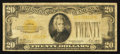Small Size:Gold Certificates, Fr. 2402 $20 1928 Gold Certificate. Very Good.. ...