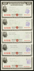 Miscellaneous:Other, $100 War Savings Bond Series E Issued 1944 at New London,Connecticut Five Examples Schwan 234.. ... (Total: 5 items)