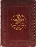 Books:Reference & Bibliography, [Dictionary]. Webster's New International Dictionary of theEnglish Language. Merriam, 1928. Reference History e...