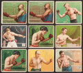 Boxing Cards:General, 1910 T218 Mecca/Hassan Boxing Collection (55) With 2 JackJohnson's. ...