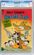 Golden Age (1938-1955):Cartoon Character, Four Color #199 Donald Duck (Dell, 1948) CGC FN/VF 7.0 Cream tooff-white pages....