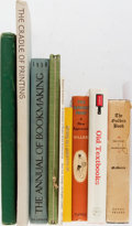 Books:Books about Books, [Books About Books]. Group of Nine Books Relating to Books and Book Arts. Good or better condition....
