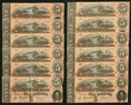Confederate Notes:1864 Issues, T69 $5 1864 80 Examples.. ... (Total: 80 notes)