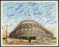 Baseball Collectibles:Photos, Brooklyn Dodgers Ebbets Field Signed Oversized Photograph WithApproximately 100 Autographs. ...