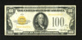 Small Size:Gold Certificates, Fr. 2405 $100 1928 Gold Certificate. Fine-Very Fine.. This is an important note for any small size collection. This example ...