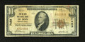 National Bank Notes:Pennsylvania, DuBois, PA - $10 1929 Ty. 1 The DuBois NB Ch. # 7453. This note has a partial teller stamp and some staining. Fine....