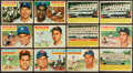 Baseball Cards:Lots, 1956 Topps Baseball Collection (140) With Mantle. ...