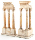 Decorative Arts, Continental, AN ASSEMBLED PAIR OF ITALIAN MARBLE GRAND TOUR SOUVENIRS. 23-5/8inches high (60.0 cm). ... (Total: 2 Items)