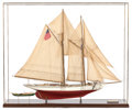 Maritime:Decorative Art, SCALE MODEL OF THE BENJAMIN LATHAM FISHING SLOOP. Modern. 59-1/2 x70-1/2 x 16-1/2 inches (151.1 x 179.1 x 41.9 cm). ...