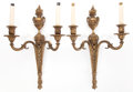 Lighting:Sconces, A PAIR OF FRENCH GILT BRONZE TWO-LIGHT SCONCES FROM THE ESTATE OF YVONNE COTY. Circa 1900. 19 inches high (48.3 cm). ... (Total: 2 Items)