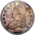 Proof Bust Half Dollars, 1836 50C 50/00 Lettered Edge PR65 PCGS. O-116, R.7 as a Proof....