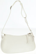 Luxury Accessories:Bags, Christian Dior White Leather Pochette Shoulder Bag. ...