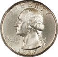 Washington Quarters, 1937 25C Doubled Die Obverse MS66 PCGS. CAC. FS-101....