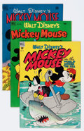 Golden Age (1938-1955):Funny Animal, Four Color Mickey Mouse File Copy Group (Dell, 1948-53) Condition:Average FN+.... (Total: 5 Comic Books)
