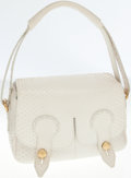 Luxury Accessories:Bags, Tod's White Python Shoulder Bag. ...
