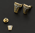 Estate Jewelry:Cufflinks, Doctor's Cufflinks & Tie Clip. ...