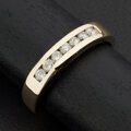 Estate Jewelry:Rings, Gent's Diamond & Gold Band Ring. ...