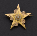 Estate Jewelry:Brooches - Pins, Victorian Gold & Pearl Brooch. ...