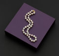 Estate Jewelry:Pearls, Very Fine 10 - 11 MM Light Violet Pearl Necklace. ...