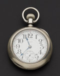 Timepieces:Pocket (pre 1900) , Elgin 23 Jewel 18 Size Coin Silver Veritas. ...