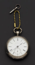 Timepieces:Pocket (pre 1900) , Tremont Watch Co. (Boston) Rare Early Key Wind, # 9725. ...
