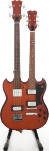 Musical Instruments:Electric Guitars, Early 1980s Antares Double Neck Natural Solid Body Electric Guitar....