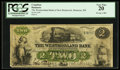 Canadian Currency: , Moncton, NB- The Westmoreland Bank $2 Aug. 1 1861 Ch # 800-12-04d....