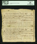 Colonial Notes:Continental Congress Issues, Continental Loan Office Bills of Exchange Third & Fourth Bills-$18 May 11, 1781 Anderson US-95/MD-4A. PCGS Apparent Choice Ab...
