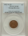 Lincoln Cents, 1922 No D 1C Strong Reverse XF40 PCGS. FS-401....