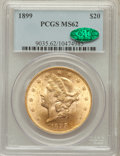 Liberty Double Eagles: , 1899 $20 MS62 PCGS. CAC. PCGS Population (5748/2619). NGC Census:(8795/6997). Mintage: 1,669,384. Numismedia Wsl. Price fo...