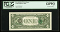 Error Notes:Third Printing on Reverse, Natick Test paper Error Fr. 1910-E $1 1977A Federal Reserve Note. PCGS Very Choice New 64PPQ.. ...