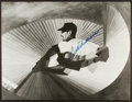 Baseball Collectibles:Photos, Ted Williams Signed Oversized Photograph Display....