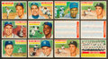 Baseball Cards:Lots, 1956 Topps Baseball Stars & HoFers Collection (22) With 2Checklists. ...
