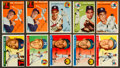 Baseball Cards:Lots, 1952 - 1955 Topps Collection (91) With Two '54 Ted Williams. ...