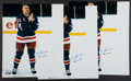 """Baseball Collectibles:Photos, Mark Messier """"Thank You Fans"""" Signed Oversized Photographs Lot of 3- Steiner...."""