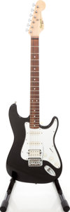 Musical Instruments:Electric Guitars, Circa 1991 Fender Squire II Black Solid Body Electric Guitar, Serial # NO19236....