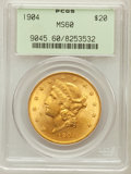 Liberty Double Eagles: , 1904 $20 MS60 PCGS. PCGS Population (3589/159049). NGC Census:(2925/206922). Mintage: 6,256,797. Numismedia Wsl. Price for...
