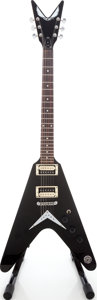 Musical Instruments:Electric Guitars, 2008 Dean VX Flying V Black Solid Body Electric Guitar, Serial #O08122162....