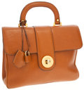 Luxury Accessories:Bags, Lancel Light Brown Leather Top Handle Bag with Shoulder Strap. ...