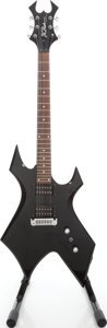 Musical Instruments:Electric Guitars, 2000s B.C. Rich Bronze Series Black Solid Body Electric Guitar,Serial # 14303602....